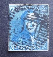 BELGIE  1849   Nr. 2     Gerand    P 130  Wavre   Nipa 850   Gestempeld     CW 60,00 - 1849 Epauletten