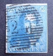 BELGIE  1849   Nr. 2 C     P 24    Gerand   Gestempeld    CW 175,00 - 1849 Epauletten