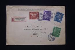 SUÈDE -  Enveloppe Du Congrès De L'UPU En Recommandé De Stockholm Pour La France En 1924 - L 96652 - Storia Postale