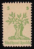Apolda 1Ib Baumstumpf Mit Blühenden Zweigen 5 Pf. Rechts Kleine 5 ** BPP-geprüft - Unclassified