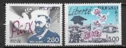 Monaco 1995 N° 1987/1988 Neufs Europa Paix Et Liberté - 1995