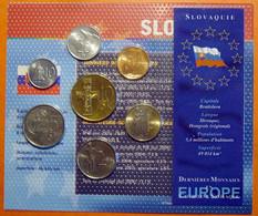 SLOVAQUIE - DERNIERES MONNAIES EN COURONNE - SOUS BLISTER AVEC NOTICE - Slovakia