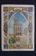 """SAINT MARIN -  Enveloppe Illustrée En 1894 En Recommandé Pour Nice Avec Annotation Du Facteur"""" Non Affranchie """"- L 96656 - Storia Postale"""