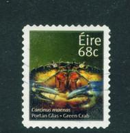 IRELAND  -  2014 Green Crab Definitive 68c Used As Scan - Usados