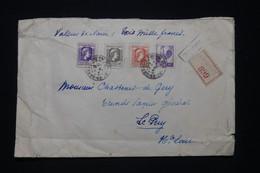 FRANCE - Enveloppe En Chargé De Arc En Barrois Pour Le Puy En 1945, Affranchissement Marianne Et Coq D'Alger - L 96659 - 1921-1960: Modern Tijdperk