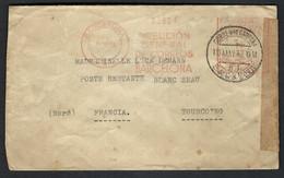 ESPAGNE 1938: LSC De Barcelone Pour La France, Lettre Passée Par La Censure Militaire Franquiste - 1931-50 Brieven
