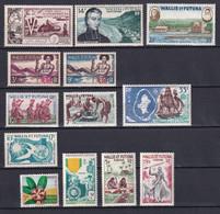 WALLIS ET FUTUNA - ANNEES COMPLETES 1952/1960 AVEC POSTE AERIENNE - YVERT N°156/160 + PA 14/17 ** MNH - COTE = 61 EUR - Full Years