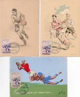 1V3 Cr  Lot De 3 Cartes Maximum 1956 Toulouse Illustrateurs Yvon Et Jack Rugby - 1950-59