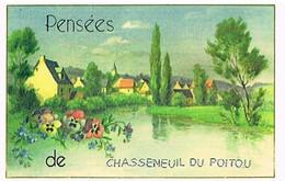 86  PENSEES   DE  CHASSENEUIL  DU  POITOU   CPM  TBE  VR948 - Sonstige Gemeinden