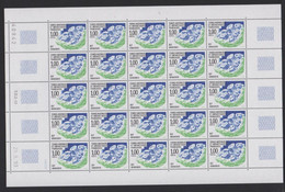 TAAF - Feuille Entière De 25 Timbres Neufs** - N° 185 - Daté Du 28/09/1993 - Qualité Poste - Ongebruikt