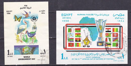 EG546 – EGYPT – 1998 – BLOCKS – FOOTBALL & ENVIRONMENT – CV 10 € - Blokken & Velletjes