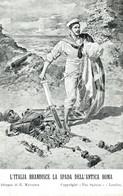 CPA - WW1 WWI Propaganda Propagande - MATANIA - Lega Navale - Scheletro, Skeleton - Bandiera, Tricolore - NV - PV681 - Oorlog 1914-18
