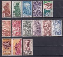 WALLIS ET FUTUNA - 1942/1954 - POSTE AERIENNE COMPLETE - YVERT N°1/14 * MLH - COTE = 62 EUR - Full Years