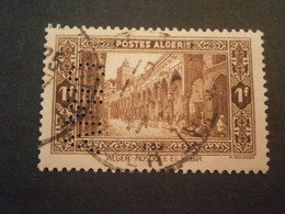 ALGERIE ALGERIA TIMBRE 116 CIMA7 PERFORE PERFORES PERFIN PERFINS PERFORATION PERFORIERT LOCHUNG PERFO PERCE PERFORATI - Used Stamps