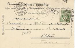 1902- C P A Oblit. AMBULANT N° 8 Avec Marque De Gare BEX - Non Classificati