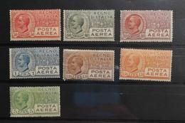Regno D'Italia Vittorio Emanuele III 1926-28 Posta Aerea Serie Completa 7 Valori * (leggerissima Traccia Di Linguella) - Posta Aerea