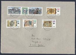 DDR, 1990, Briefumschlag A5, Gelaufen, - Privatumschläge - Gebraucht