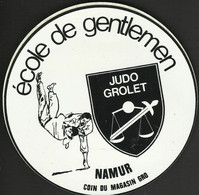 Judo Grolet Namur Ancien Autocollant Sticker - Stickers
