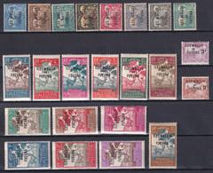 WALLIS ET FUTUNA - 1920/30 - TAXE YVERT N°1/23 * MH - COTE 2017 = 69.25 EUR - Postage Due