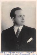 """02729  """" 1933 - AUTOGRAFO -  CANTANTE LIRICO O ATTORE NON IDENTIFICATO"""" FOTO ORIG. FOTO - Handtekening"""