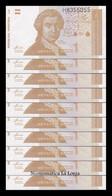 Croacia Lot Bundle 10 Banknotes 1 Dinar 1991 Pick 16 SC UNC - Croatia