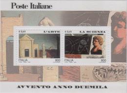 """Italia - 2000 - """"Avvento Del 2000 - 2^ Serie"""" In Foglietto  MNH** (rif BF24 Cat. Unificato) - Hojas Bloque"""