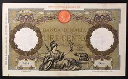100 Lire Roma Guerriera Fascio Roma 09 06 1937 BEL BIGLIETTO Naturale LOTTO 3494 - 100 Lire