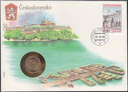 CZECHOSLOVAKIA - 1 Koruna 1977 KM# 50 First Day Cover - Edelweiss Coins - Tschechoslowakei