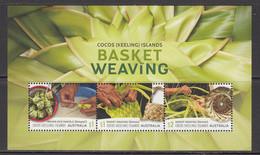 2018 Cocos Island Basket Weaving Souvenir Sheet MNH - Cocos (Keeling) Islands