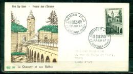 FDC  # 1957-France # Sites Et Monuments # Architecture # Beffroi,pont, Belfry ,bridge ,Le Quesnoy (Edit.PAC) - 1950-1959