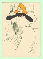 K524 - Illustration Femme, Frau, Lady, Yvette Guilbert - Par Toulouse - Lautrec - Other Illustrators