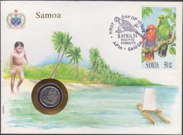 "SAMOA - 5 Sene 1987 ""pineapple"" KM# 4 First Day Cover - Edelweiss Coins - Samoa"