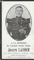 ABL, Joseph Latour ,né Villers La Ville , Tombé Her - Obituary Notices