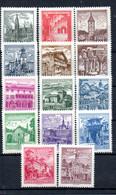 R2-19 Autriche N° 950B à 959BA ** . A Saisir !!! - 1961-70 Nuevos & Fijasellos