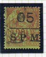 37CRT175 - ST PIERRE ET MIQUELON 1885 ,  Yvert N. 8 Usato. - Used Stamps