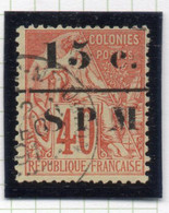 37CRT181 - ST PIERRE ET MIQUELON 1885 ,  Yvert N. 14 Usato. - Used Stamps
