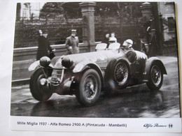 MILLE   MIGLIA   1937   FOTOGRAFIA   RIPRODUZIONE - Automobilismo - F1