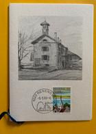 13604 - Cachet Renens 2 Village 5.05.1989 Dessin Ancienne Maison De Commune Menu Anniversaire Ste Philatélique Renens - Sin Clasificación