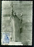 CM-Carte Maximum Card #1953-France # Religion/Célébrités # Statue  De  Saint Bernard ,Théologien# Obl. Illustr.Vézelay) - 1950-59