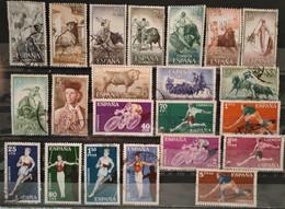 ESPAGNE - 1960 Lot 45 Timbres O / * / ** (voir 2 Scan) - 1951-60 Usados
