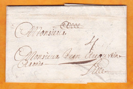 1683 - Lettre Pliée De Dunkerque, Nord Vers Lille - Taxe 4 - Règne De Louis XIV - 8 Scans - ....-1700: Vorläufer