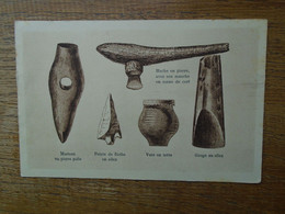 Ancienne Carte Assez Rare , Outils De La Préhistoire - Museen