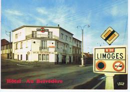 """HAUTE-VIENNE - LIMOGES - Hôtel-Restaurant De L'Aéroport """" Au Belvédère """" - Alberghi & Ristoranti"""
