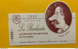 14385 -   Les Bacchantes Gewurtraminer De Lavigny 1993 René Felber Conseiller Fédéral Entre 1988 & 1993 - Moustaches