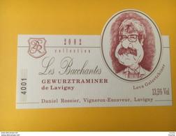 13835 -  Gewurztraminer De Lavigny 2002 Les Bacchantes Caricature Lova Golovtchiner Humoriste, écrivain,acteur - Moustaches