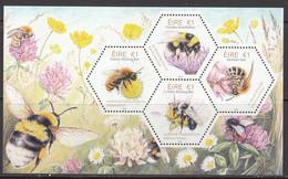 2018 Ireland Bees Insects  Souvenir Sheet MNH @ Below Face Value - Nuevos