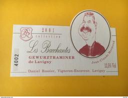 5849 -  Rare Les Bacchantes  Collection 2001 Gewurztraminer De Lavigny Suisse  Jean-Claude Mermoud (député UDC, Décédé) - Snorren