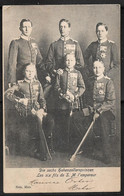 GERMANY - LES SIX FILS DE S.M. L'EMPEREUR WILHEIM II -  POSTCARD Sent 1903 From METZ To MONTEVIDEO - Familles Royales