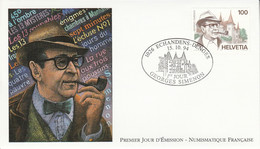 FDC 1994 GEORGES SIMENON EMISSIONS CONJOINTES - 1990-1999