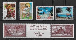 2006 Wallis Et Futuna N° 653, 656, 658/659, 660/661 Nf** MNH . Danse, Foot 2006, Tableaux, Wallis Autrefois. - Unused Stamps